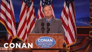 Andy Richter Is Conan's Sean Spicer  - CONAN on TBS