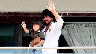 Shahrukh Khan & Abram 50th BIRTHDAY Celebrations At Mannat