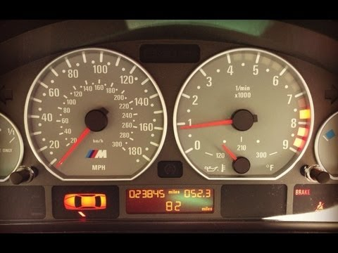 HOW TO:  Reset BMW E46 M3 Oil Service Indicator