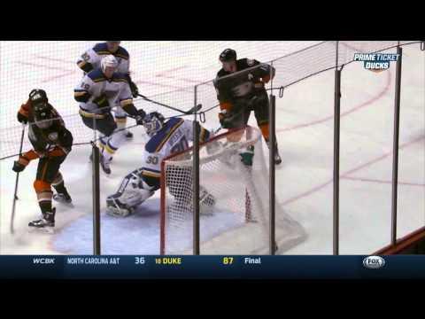 Ryan Getzlaf backhand PPG 1-0 St. Louis Blues vs Anaheim Ducks Jan 2 2015 NHL