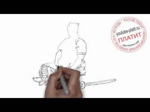 Видео как нарисовать самурая карандашом поэтапно