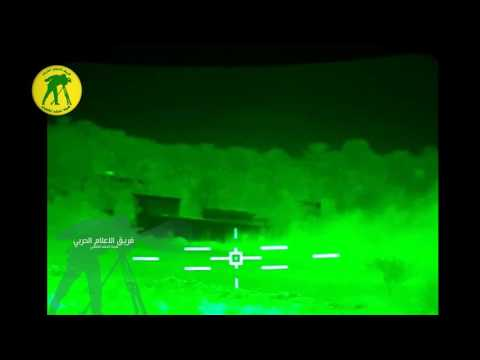 Iraqi Army Abrams kill several ISIS fighters at night
