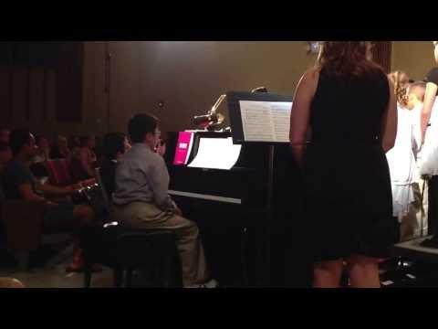 """Neil Armstrong's Spring Concert w/. Caleb Lumba, age 11, piano accompanist """"The Little Birch Tree"""""""