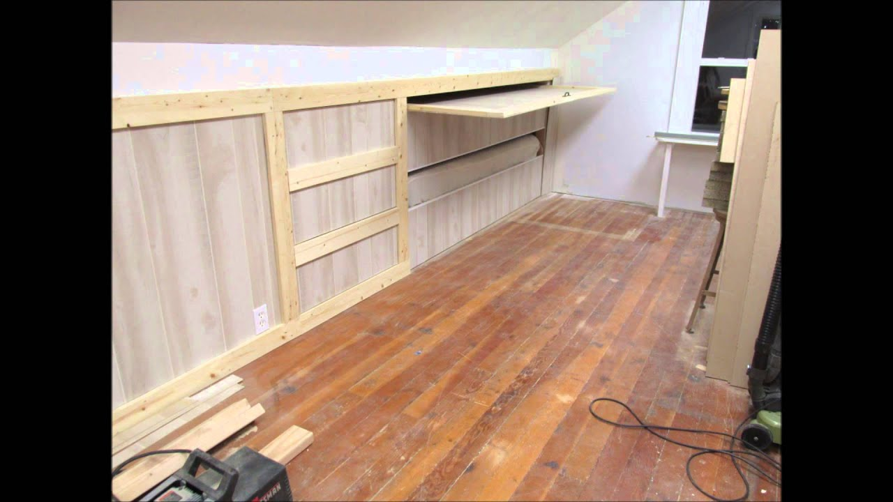 Upstairs Hidden Drawers and Pull Out Bed - YouTube