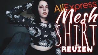 Cheap Online Mesh Top Haul/Review - AliExpress, eBay, Wish ||Radically Dark||
