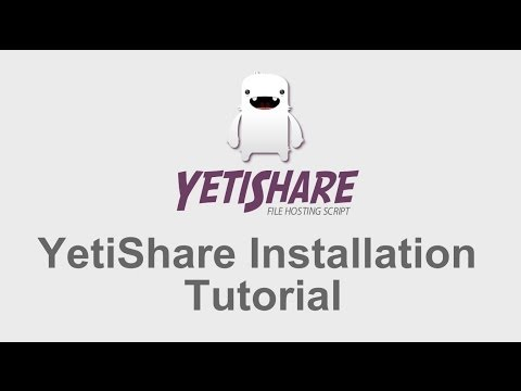 YetiShare Installation Tutorial