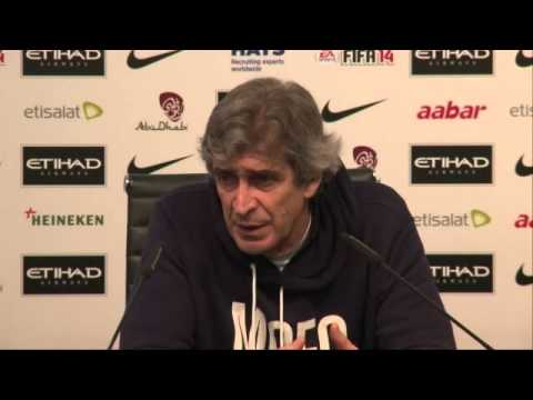 Manuel Pellegrini reacts to Manchester City's 5-0 win over Blackburn Rovers -- video