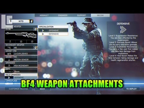 BF4 Weapon Attachments & Field Upgrades! (Battlefield 4 Gameplay/Commentary/Alpha/E3) E3M13