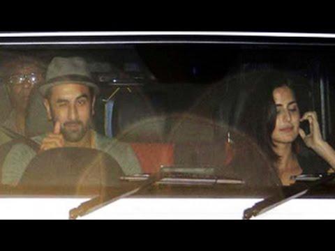 Ranbir Kapoor, Katrina Kaif Spotted In The Car   Latest Bollywood Gossip 2014   video