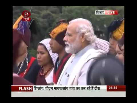 PM Narendra Modi plays drum, thali, mingles with tribals in Meghalaya