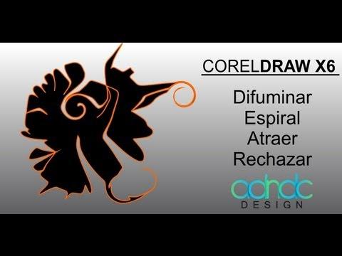 CorelDRAW, Nuevas herramientas ESPIRAL, DIFUMINAR, ATRAER, RECHAZAR, exclusivo de X6 @ADNDC @adanjp