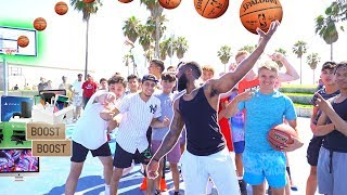 MAKE THIS BASKETBALL TRICK SHOT ON VENICE BEACH & I'LL BUY YOU ANYTHING!