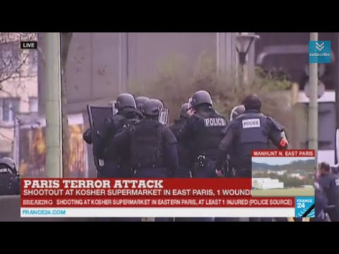 January 2015 Breaking News UK High Alert France Two hostages killed Paris grocery store attack