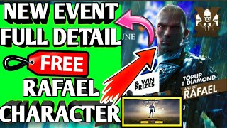Free fire new event detail 🔥🔥| Free Rafael Character 😎|| 75%💎💎 diamonds | free fire new update
