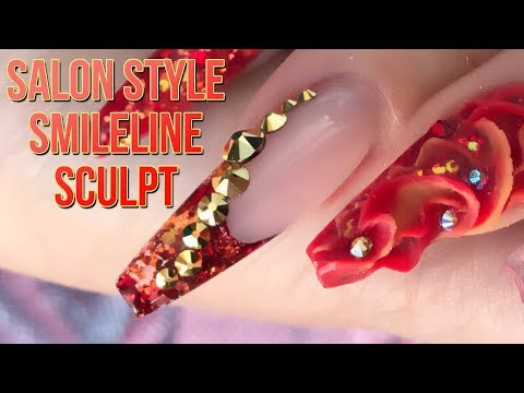 How to do a Salon Style Smileline - A Song of Ice and Fire - Full Look - Step by Step Nail Tutorial