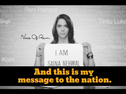NOTHING MEANS ANYTHING A MESSAGE BY SAINA NEHWAL