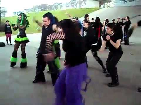 Goths Dancing Black Kid