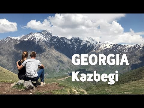 Georgia Travel: trip from Tbilisi to incredible Kazbegi mountains & Gveleti waterfall
