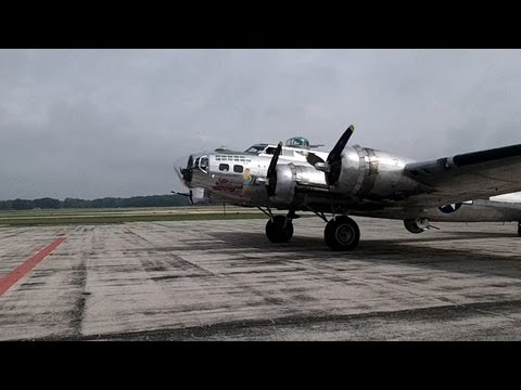 Last Monday I took the kids down to see the Sentimental Journey, a B-17 Flying Fortress, fly into the Muskegon County Airport. Needless to say the kids were very happy and excited to see her...