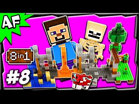 Lego Minecraft 21116 CRAFTING BOX Build #8 Animated Stop Motion Review
