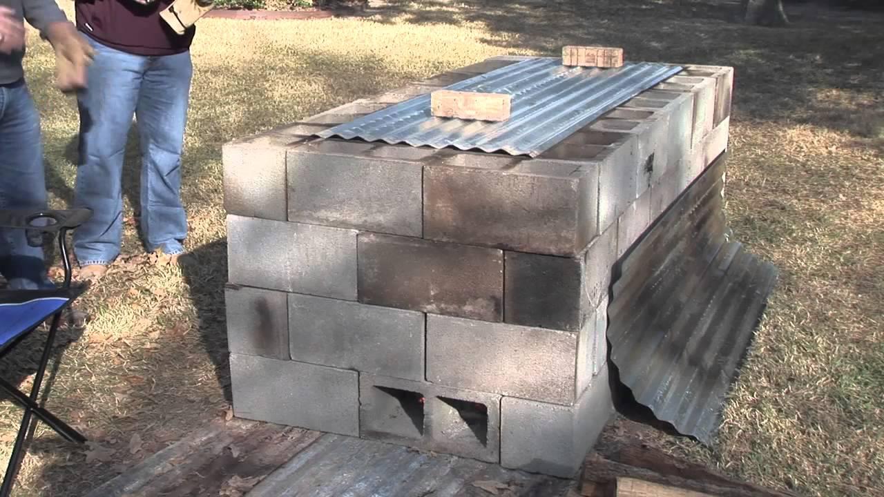 Backyard Cinder Block Smoker : Bbq Pit Plans  Apps Directories