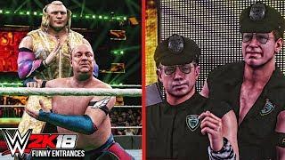 WWE 2K18 - Top 10 Funny Entrances Ft Triple H, Kurt Angle, Mr. McMahon , Seth Rollins & More!