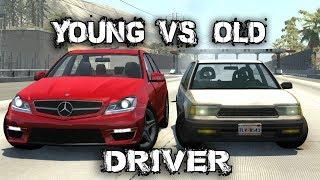Old VS. Young Driver - BeamNG.Drive