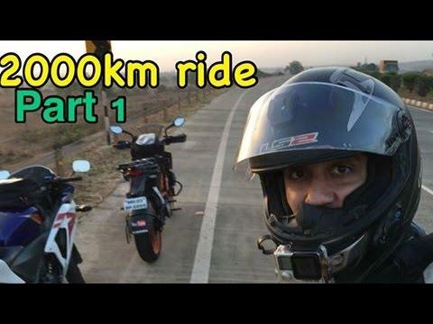 Mumbai To Bangalore To Mumbai | 2000km Ride in 28 hours | Part 1