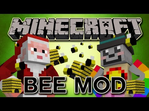 SEXY BEES + SWEET HONEY IN MINECRAFT - Honey Bee Mod - Mod Review