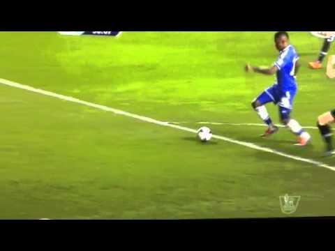 Eto'o scores goal with double Meg's