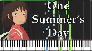 One Summer's Day - Spirited Away [Piano Tutorial] (Synthesia)