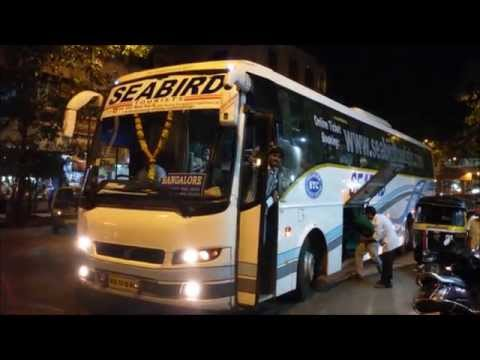 Colourful Multi-Axle Volvo Buses Connecting Mumbai & Bangalore Cities in India