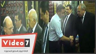 وزير الصحة وأشرف زكى وحازم إمام فى عزاء المستشار عنانى عبدالعزيز