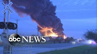 Environment groups concerned after chemical plant blaze in Houston