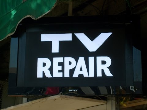 TV Repair Hack. Another way to salvage a broken LCD TV.