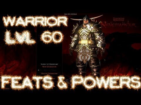 Neverwinter MMO - Guerrero lvl 60 Feats y Powers