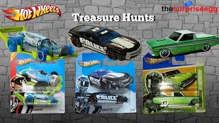 3 Hot Wheels Treasure Hunts Cars Chase opening unboxing short card Die Cast
