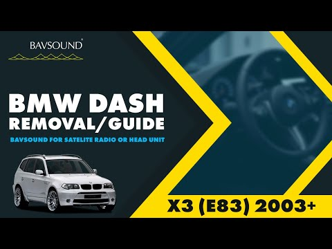 X3 (E83) 03+ Dash Removal Guide (for Satellite Radio or Head Unit Install)