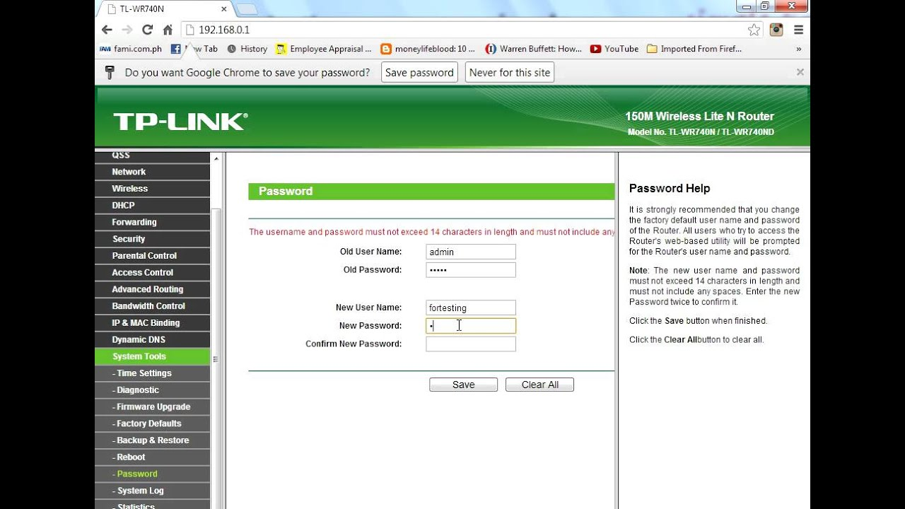 How to Change Administrative password on TP Link ADSL Router - YouTube