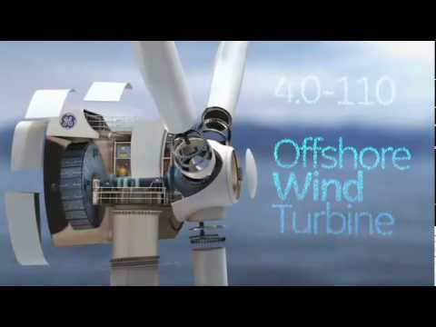 The new General Electric offshore wind turbine.