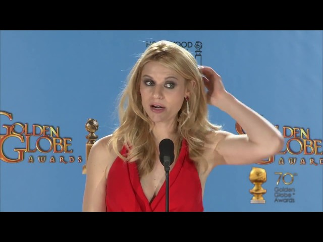 Backstage with Claire Danes, best actress TV series/drama
