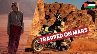 Taking the VStrom 650 XT into the desert of Wadi Rum /// VStrom Adventures #060