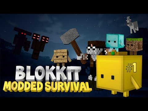 Minecraft: Blokkit Modded Survival Ep. 1 - BOB THE GOLDEN BLOKKIT!