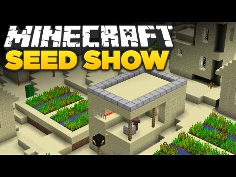 Minecraft 1.5 Seeds: 2 NPC Villages, Temple & Ravine!