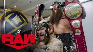 Viking Raiders with their newly won titles: Raw Exclusive, Oct. 14, 2019