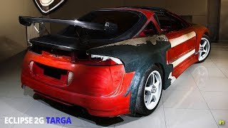 Mitsubishi Eclipse 2G GSX (side air intake ) | roof cuting, targa T-TOP building | Part 1/12