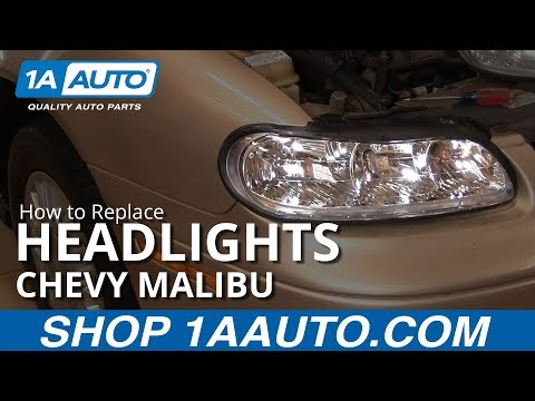 How to Install Replace Headlight and Bulb Chevy Malibu 97-03 1AAuto.com