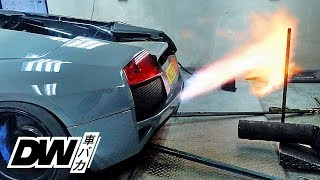 Flaming Loud Lamborghini Murcielago on Dyno - LP640 Project Pt 6