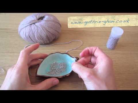 Stringing Beads on Yarn How to Thread Beads Onto Yarn