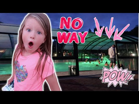 SURPRISING THE GIRLS WITH A NIGHT TIME POOL PARTY! EUROPE ROAD TRIP DAY 24!